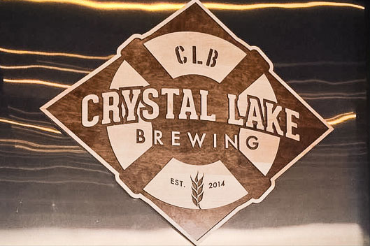 Crystal Lake Brewing Wood Sign