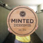 Minted Design Etched Sign