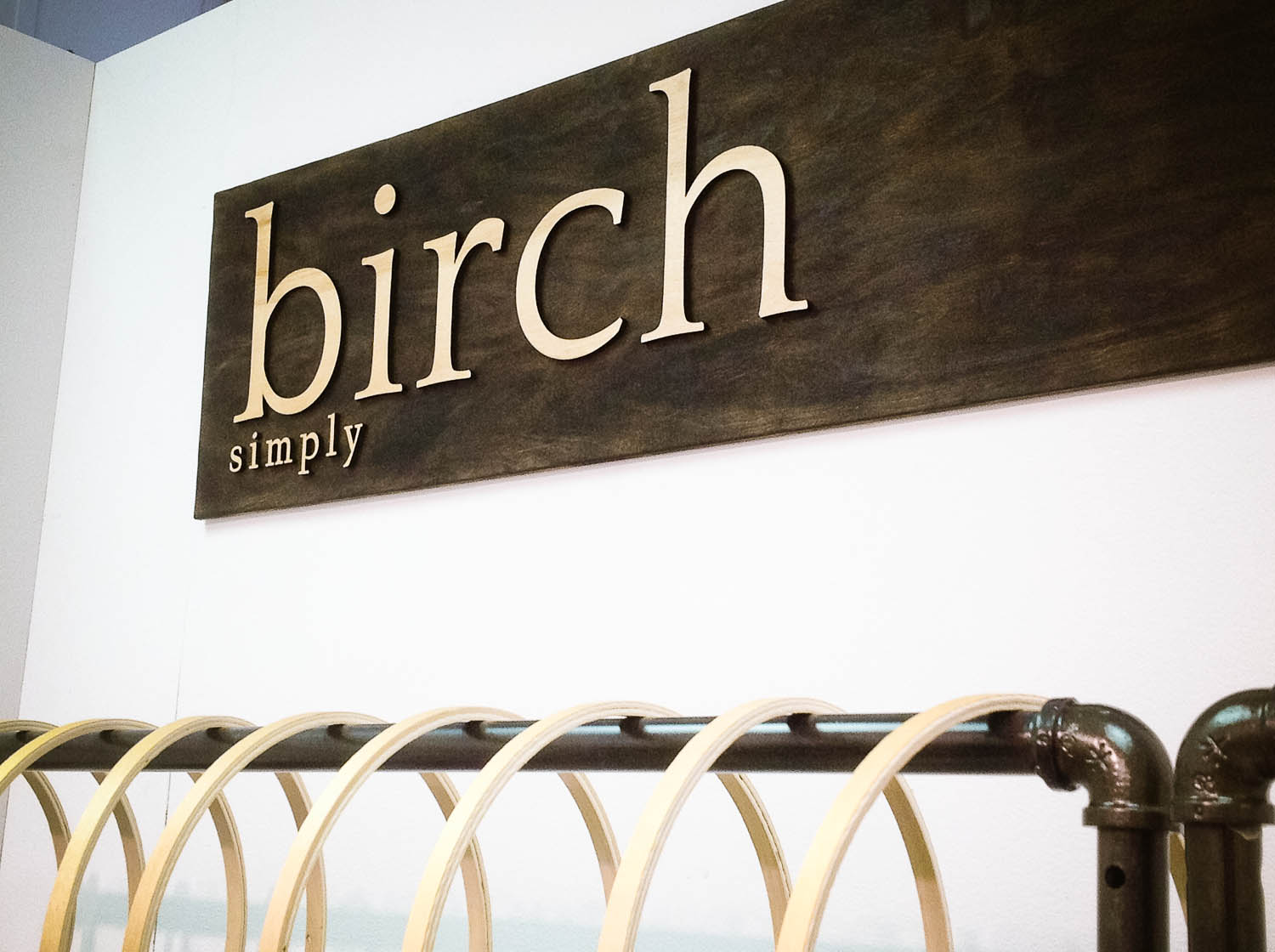 Raised Sign in Torched for Birch