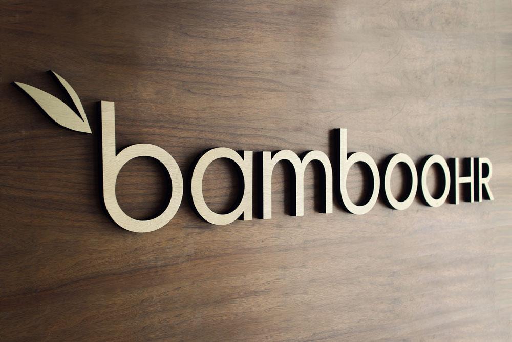 Bamboo HR Wood Lobby Sign