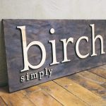 Torched wood sign