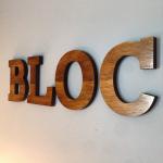 BLOC wood signage