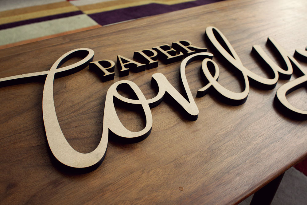 Paper Lovely Wood Sign