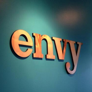 Envy Labs Wood Lobby Signage
