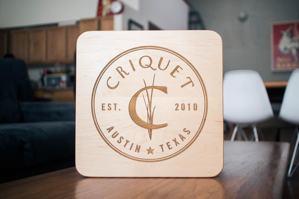 Criquet Shirts Wood Sign