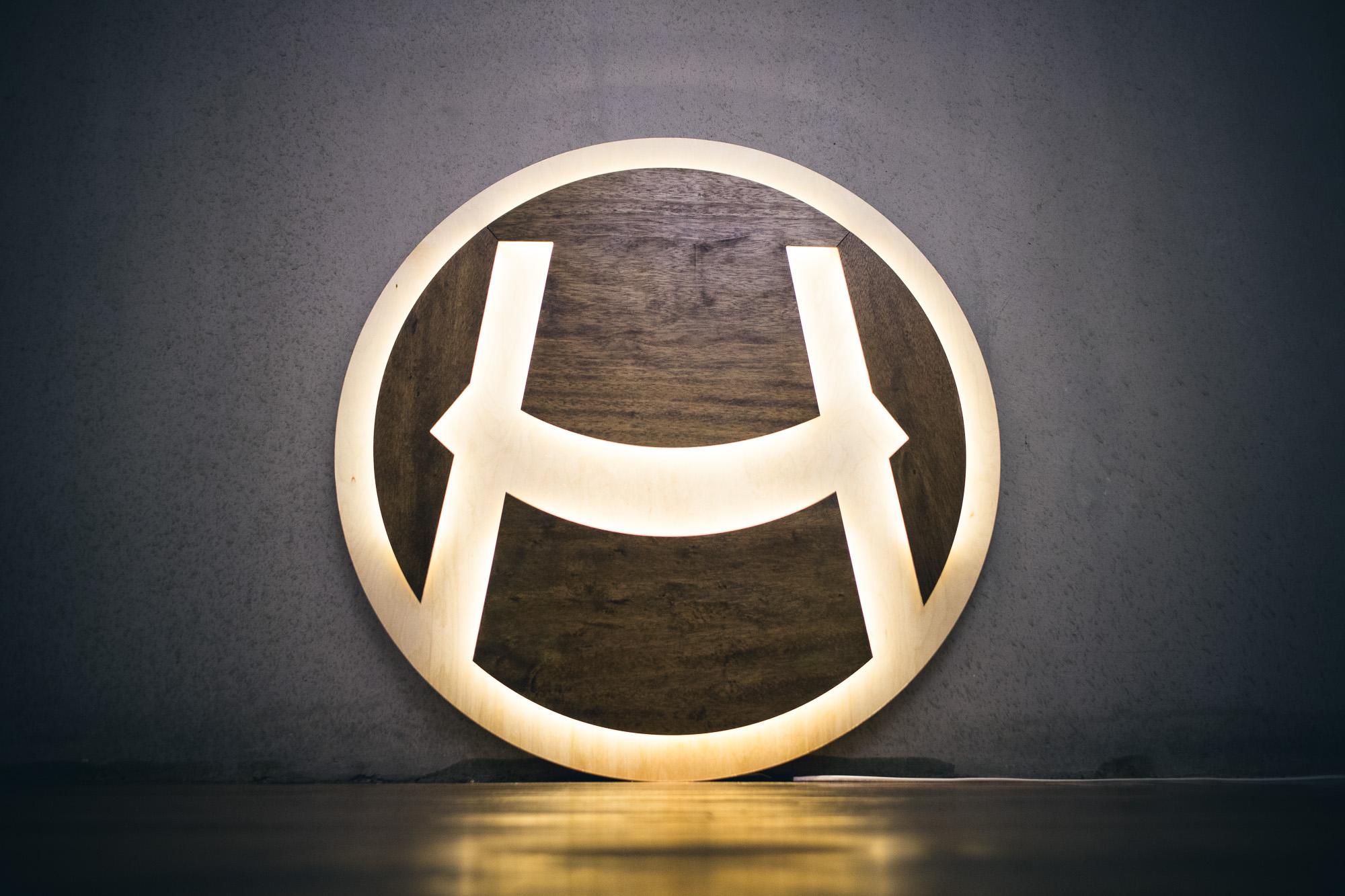 Hammock Illuminated Wood Lobby Sign
