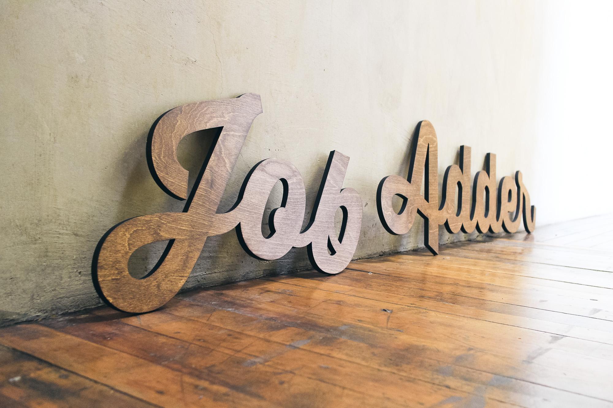 Cutout Wood Signage for JobAdder