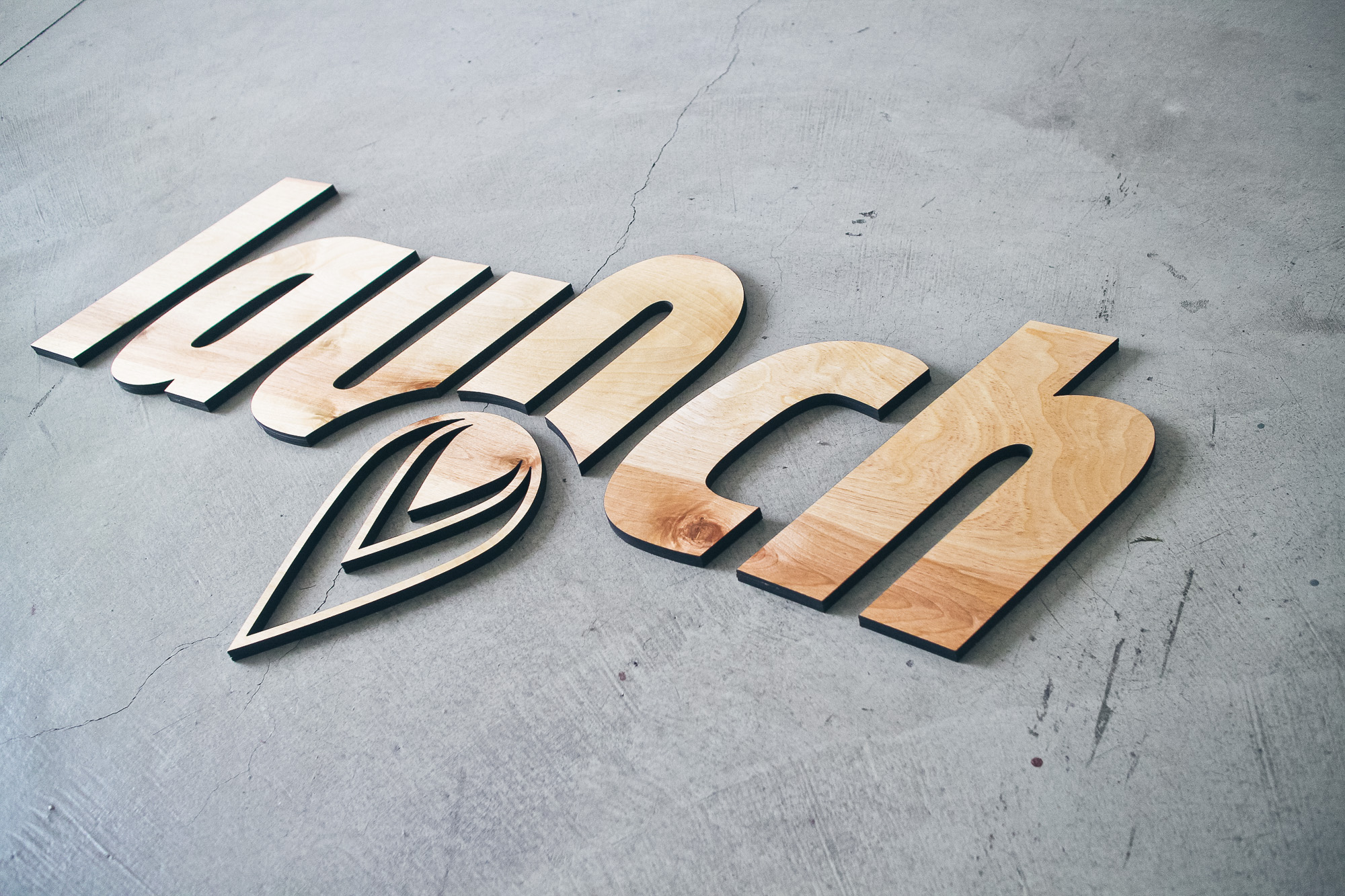 Launch Interactive Wood Sign