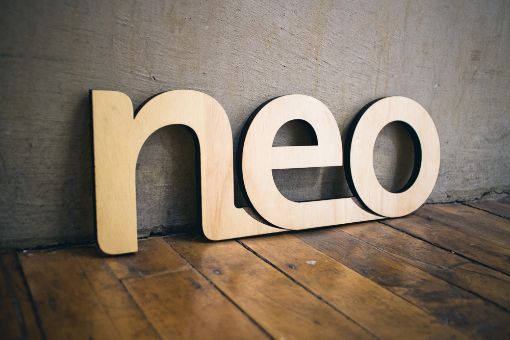 Neo Wood Sign