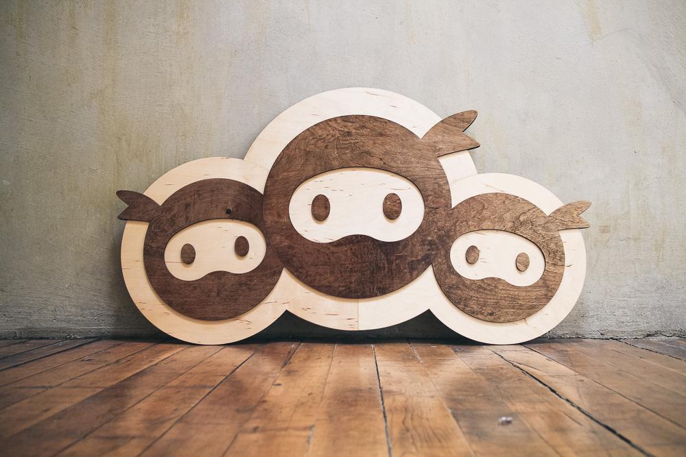 Wood Cutout Sign for WP Ninjas