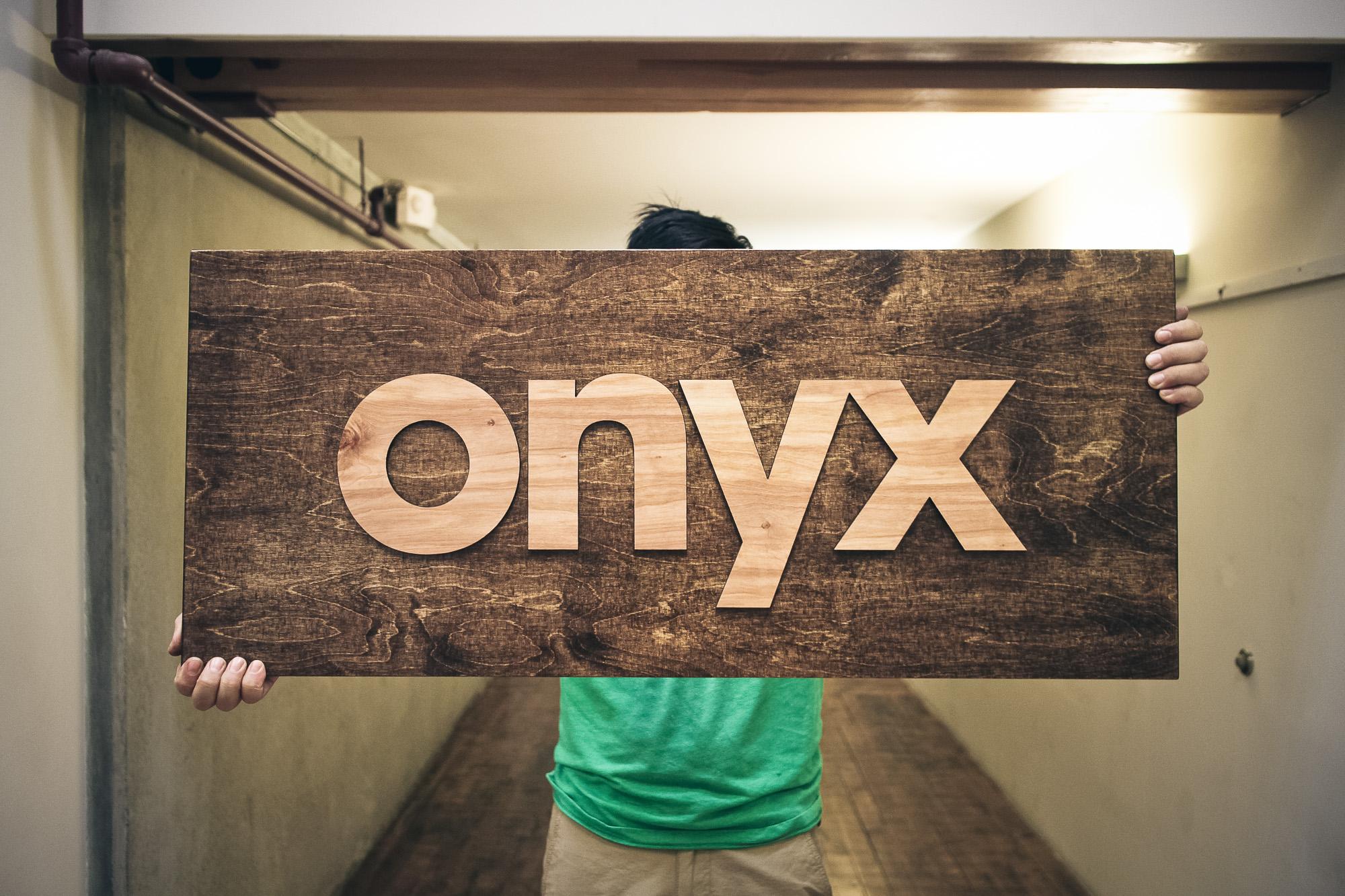 Onyx Wood Sign