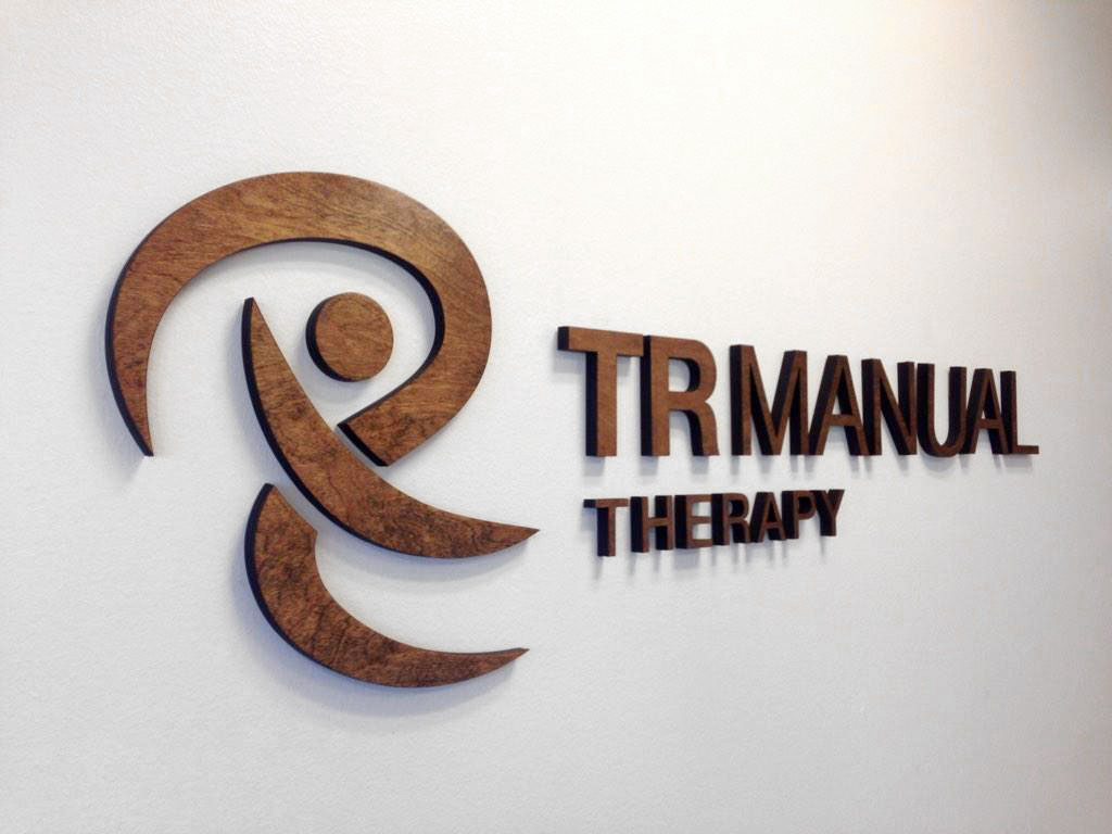 Wood Signage for TR Manual Therapy