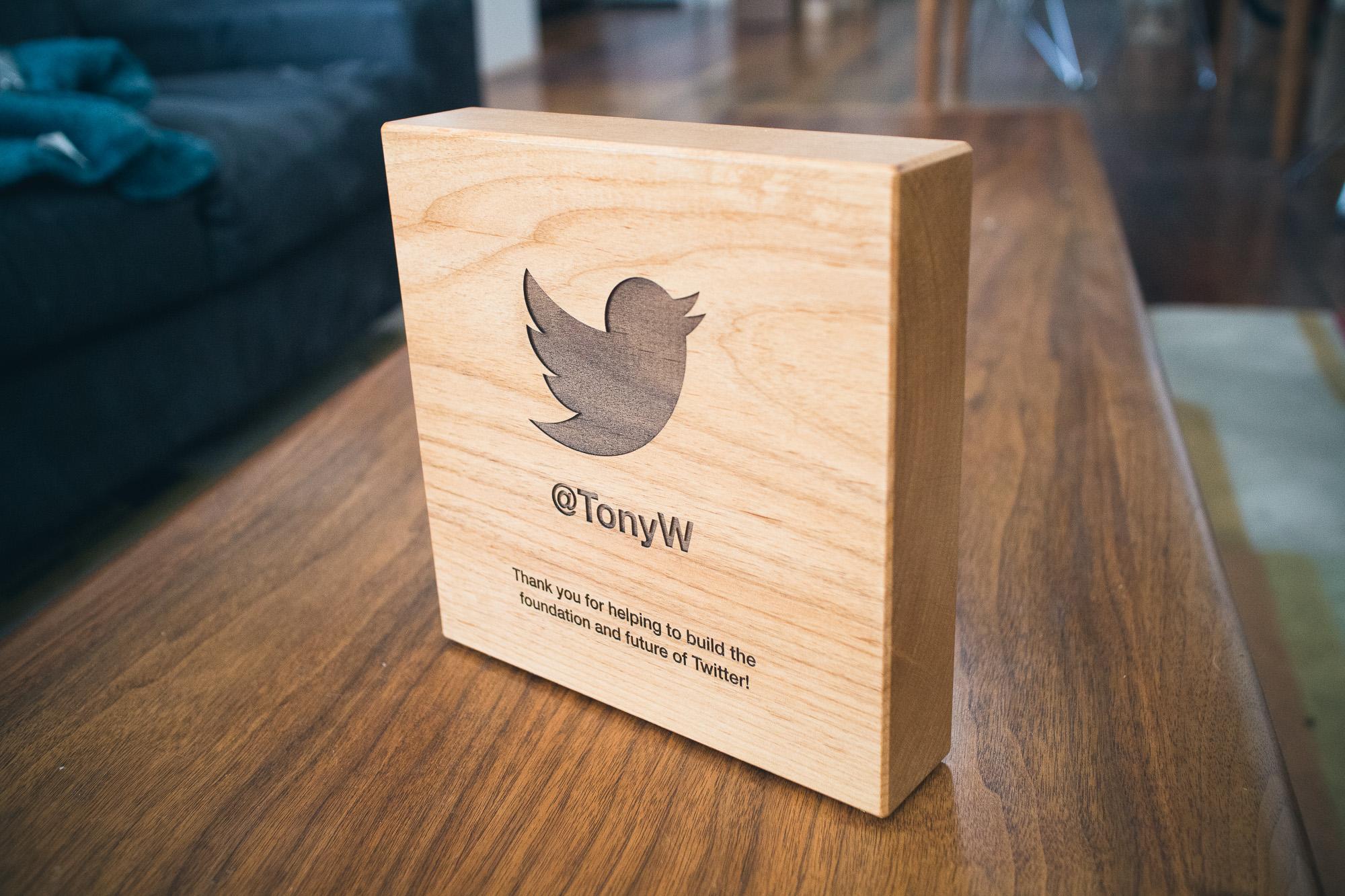 Twitter wood award