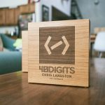 40 digits etched wood award