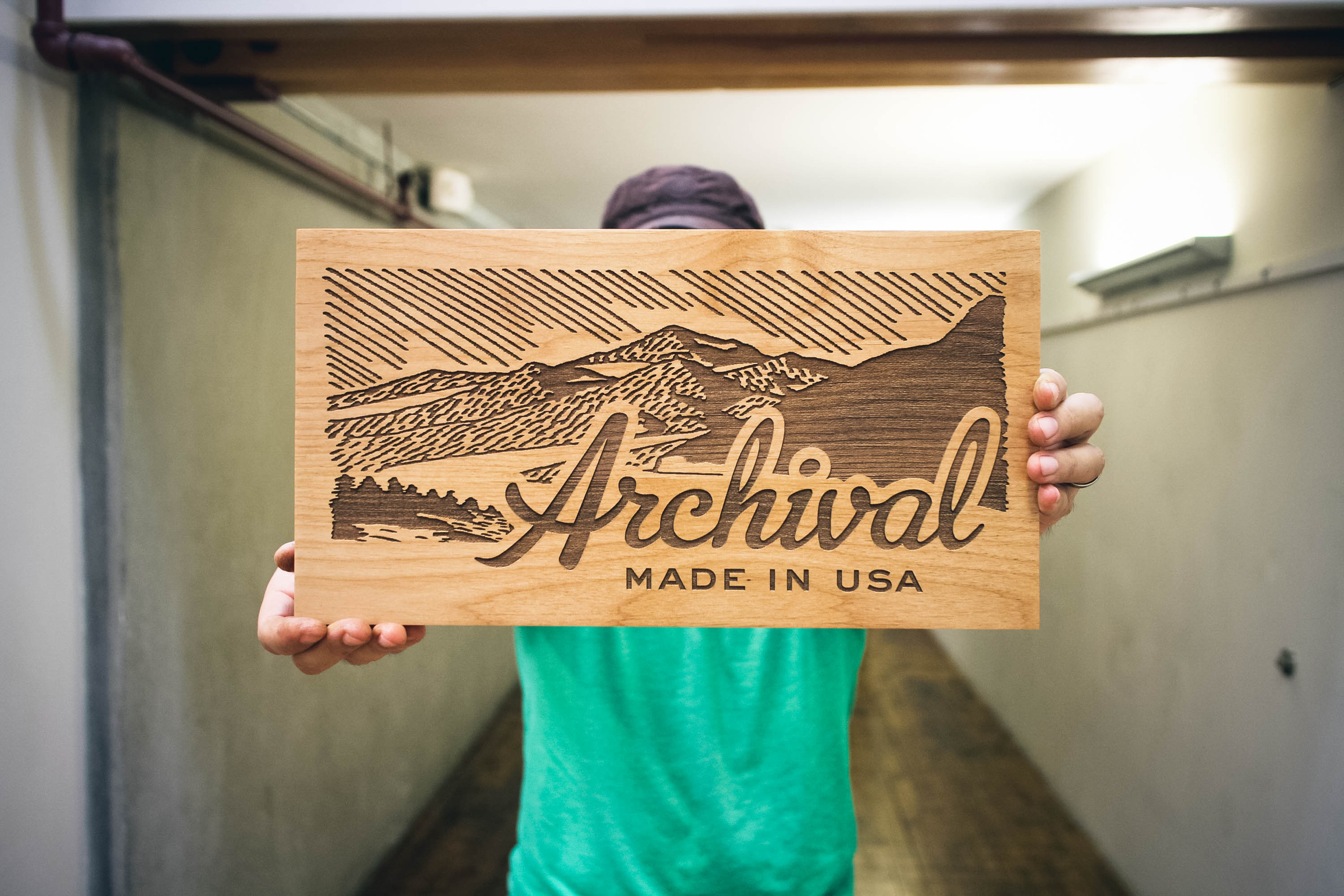 Archival Wood Sign