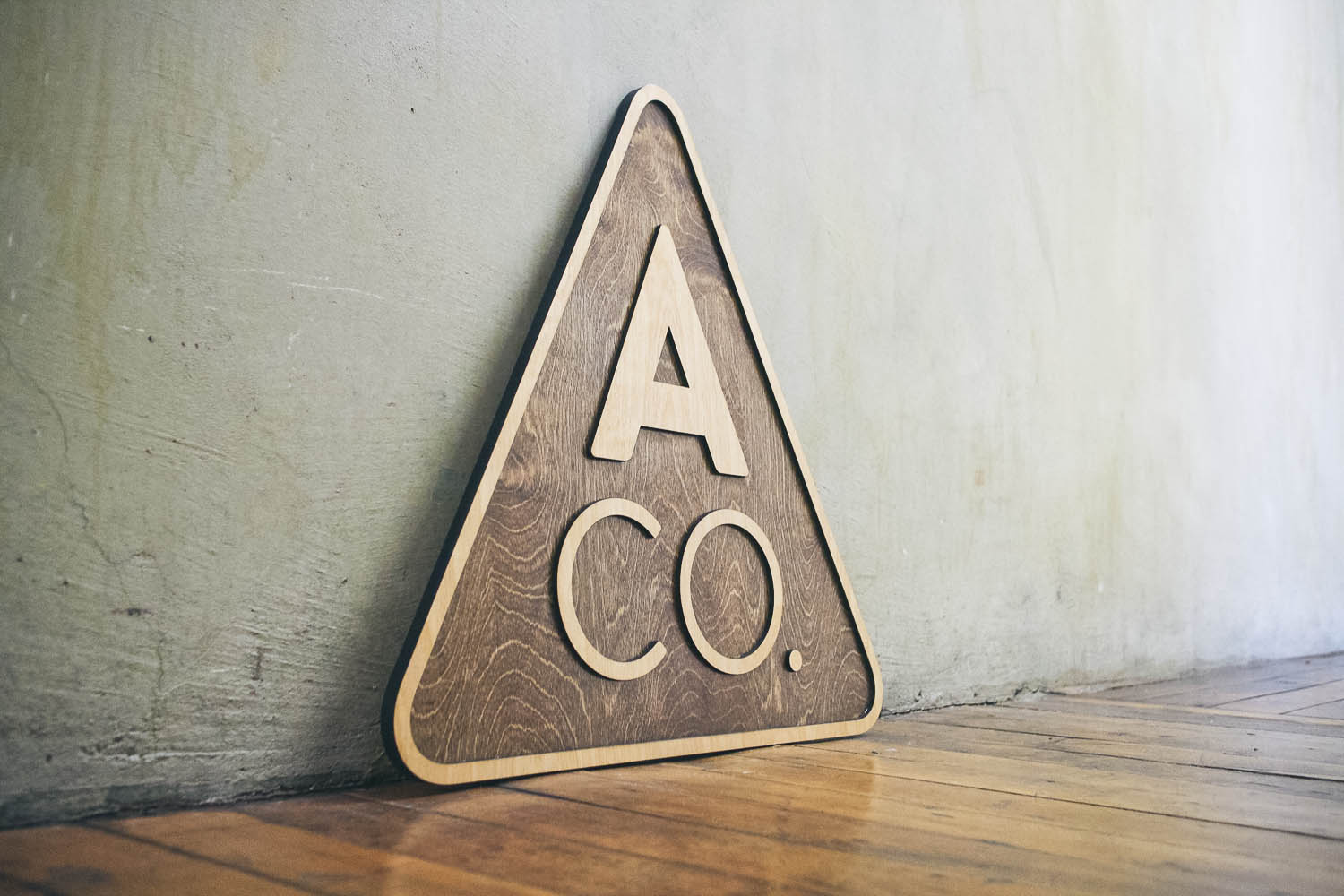 Assembly Co Raised Wood Sign