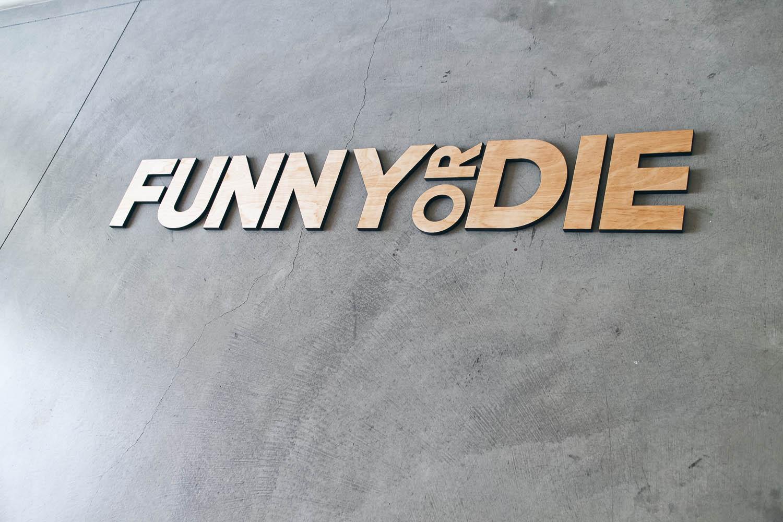 Funny or Die Floating Wood Sign