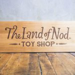 The Land of Nod Etched Wood Sign