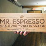 Mr. Espresso Etched Alder Wood Sign