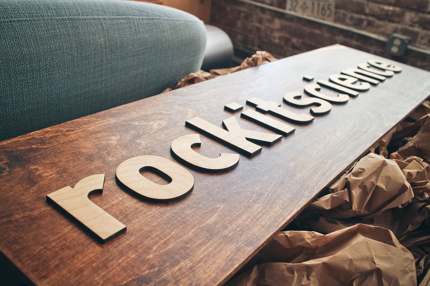 Rockit Science Raised Wood Sign