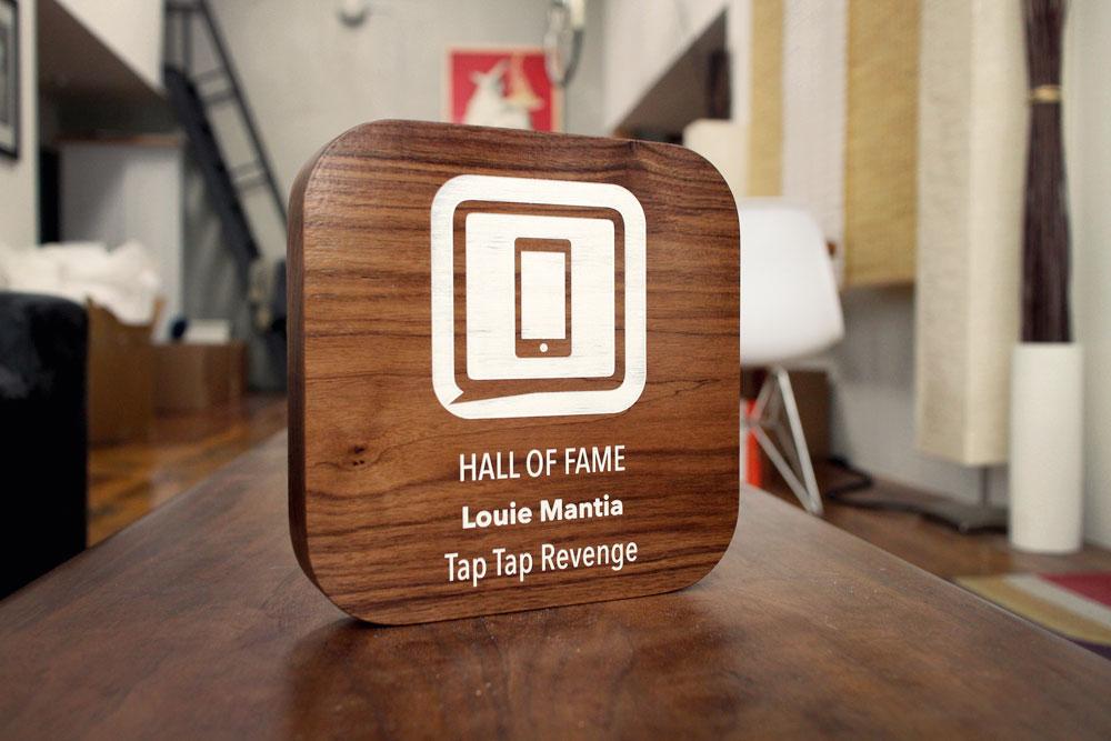 iMore Walnut Wood WWDC Award