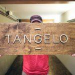Tangelo Raised Chestnut Wood Sign