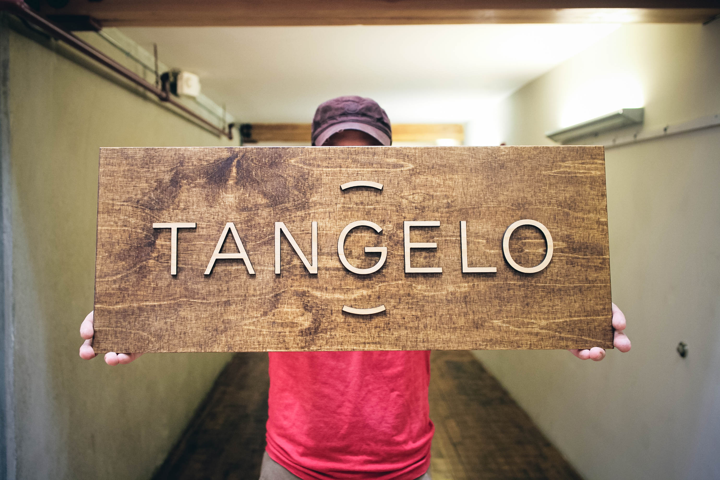 Tangelo Raised Chestnut Wood Sign