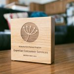 Ready for Zero Etched Wood Award