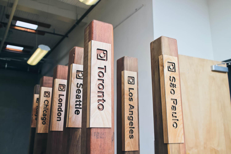 Instagram Wood Floor Sign