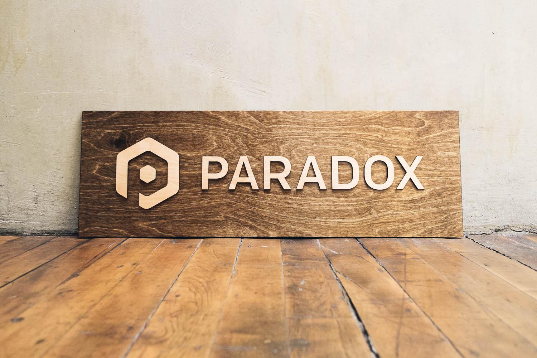 Paradox Raised Sign