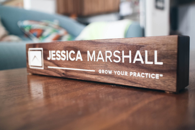Walnut Wood Nameplate