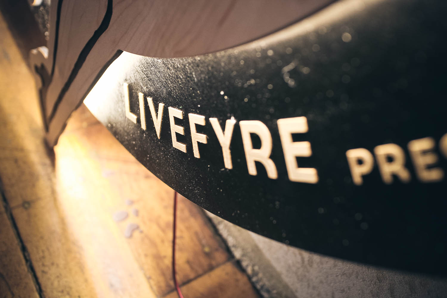 LiveFyre Wood Illuminated Sign