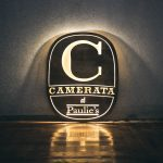 Camerata Illuminated Wood Sign