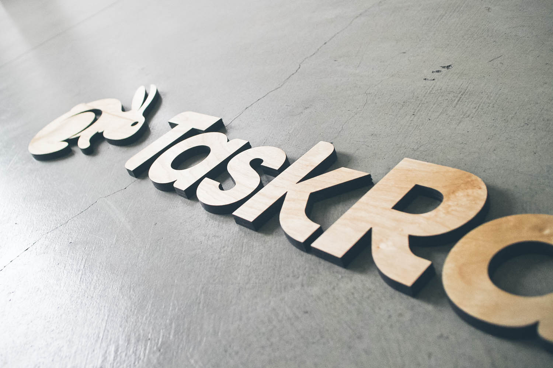 Taskrabbit Wood Sign