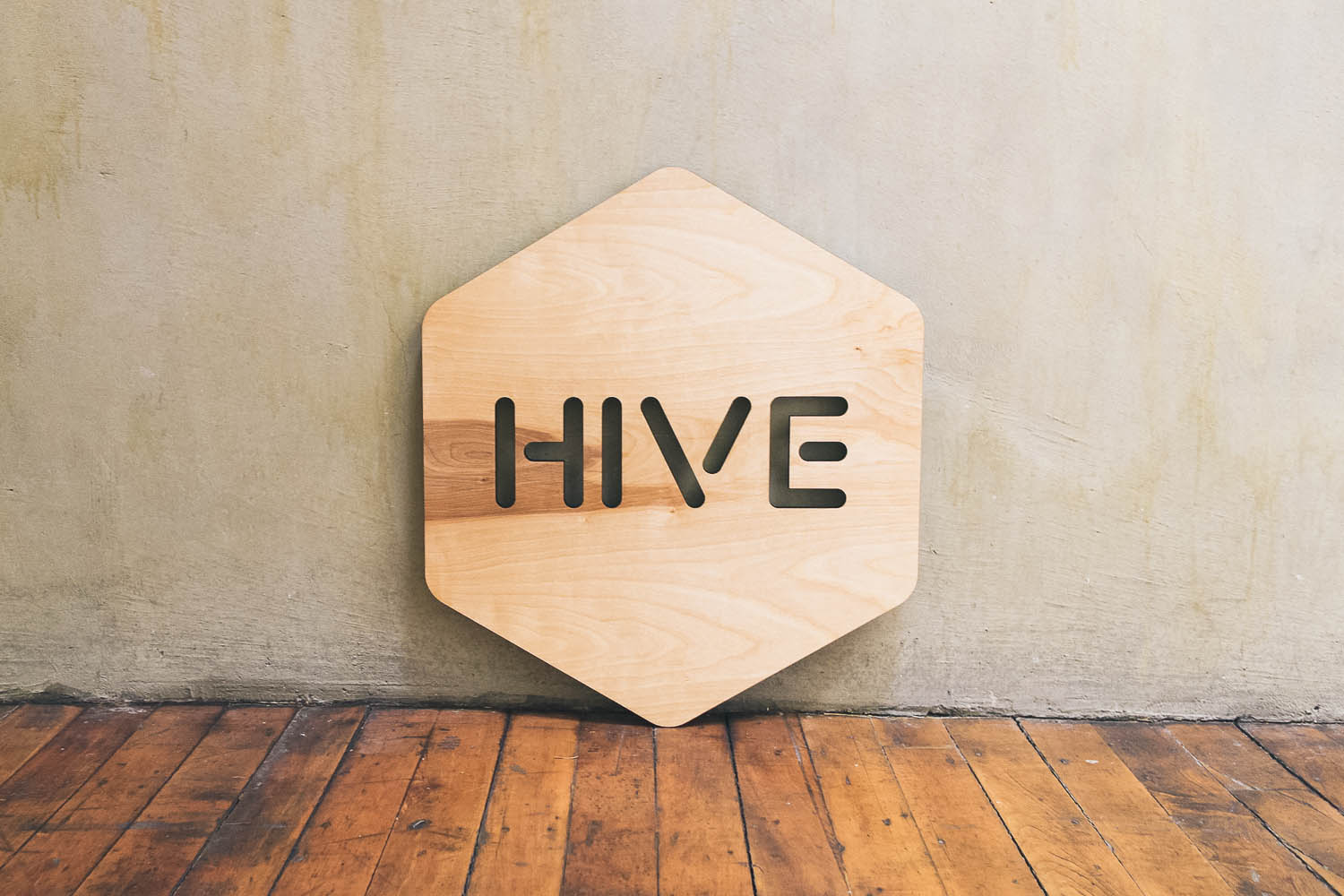 Hive Google Wood Sign