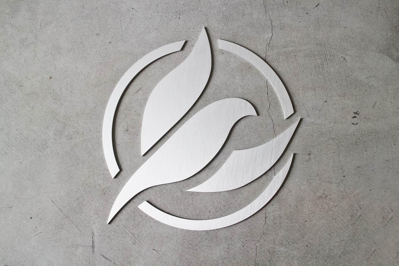 Massage Hope Floating Metal Sign in Platinum