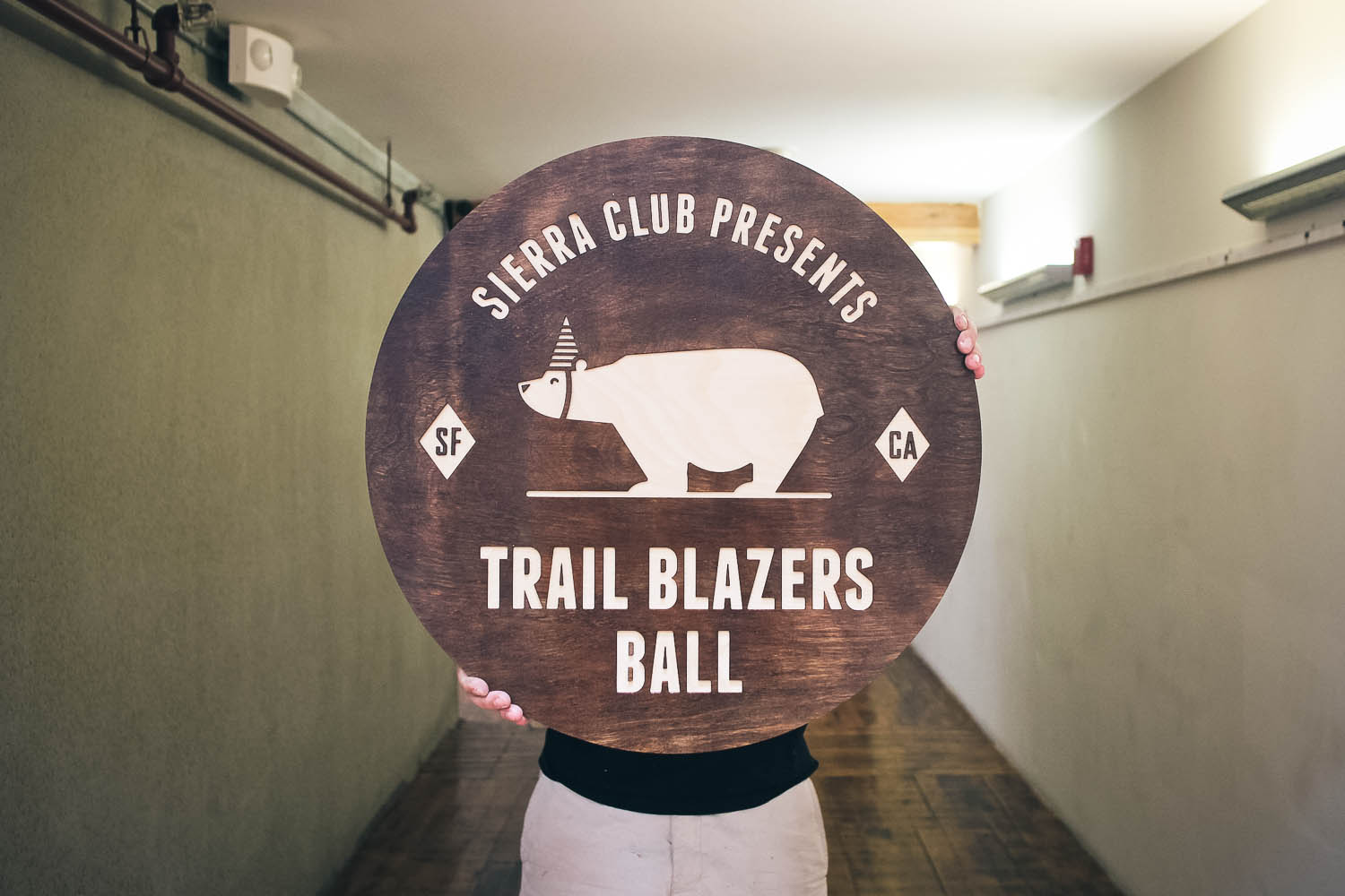 Sierra Club Raised Wood Sign