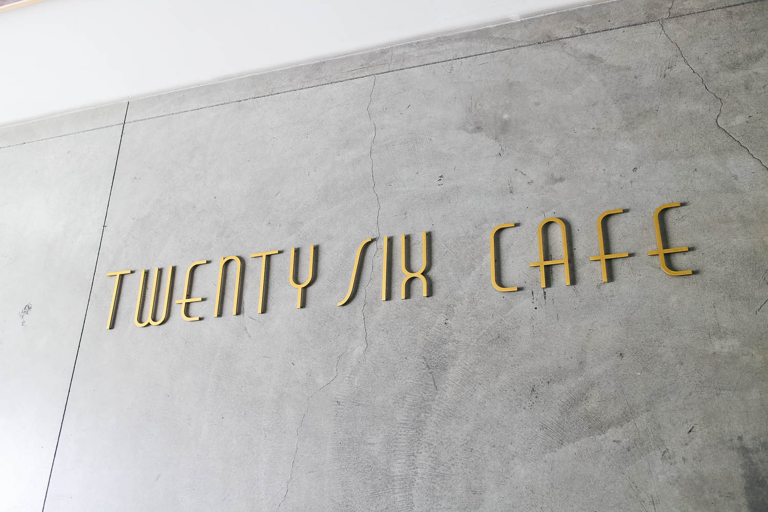 25 Cafe Gold Metal Sign