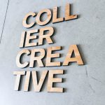Collier Creative Light Wood Sign