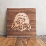 Double Fine Inverted Alder Wood Sign