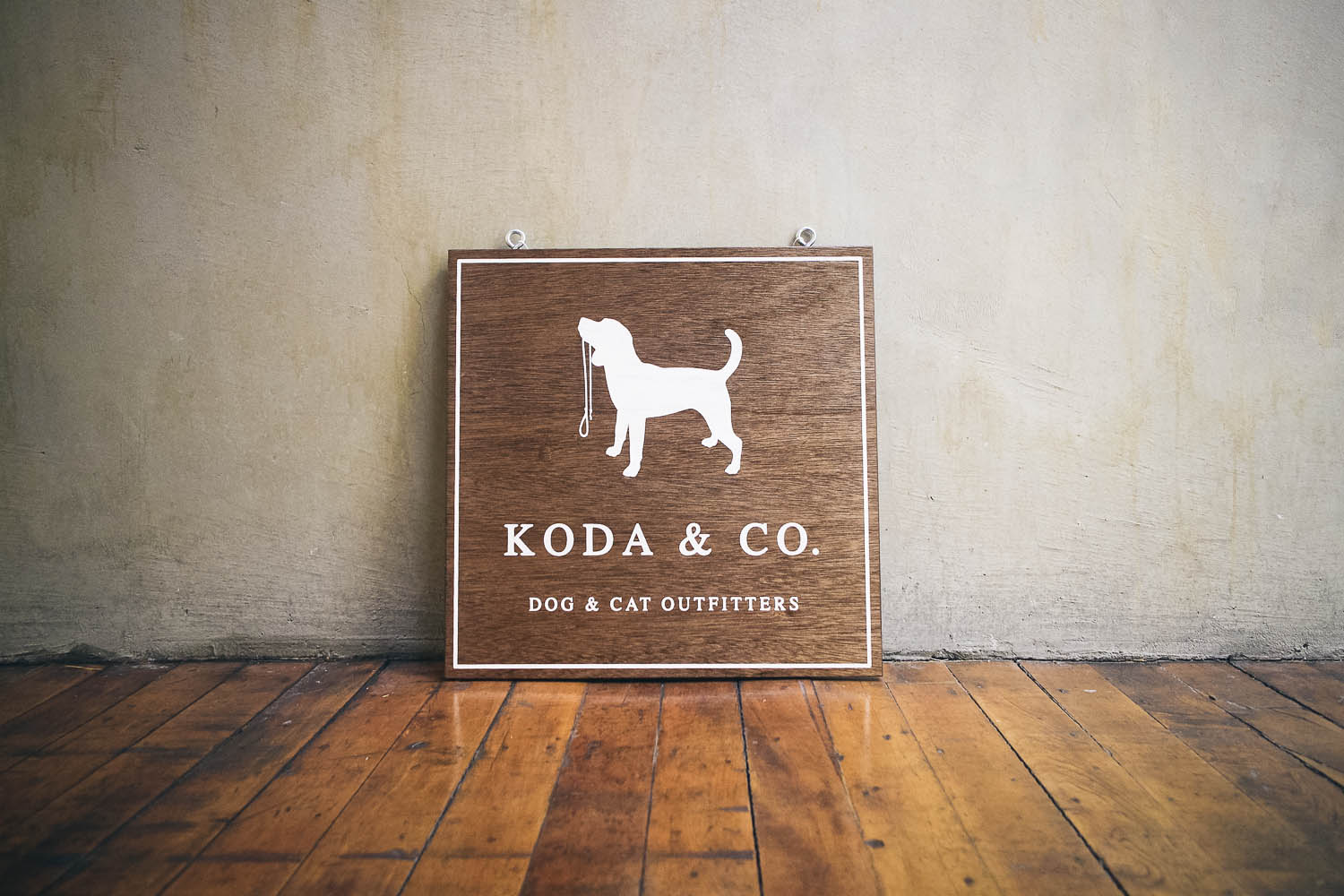 Koda & Co Hanging Wood Sign