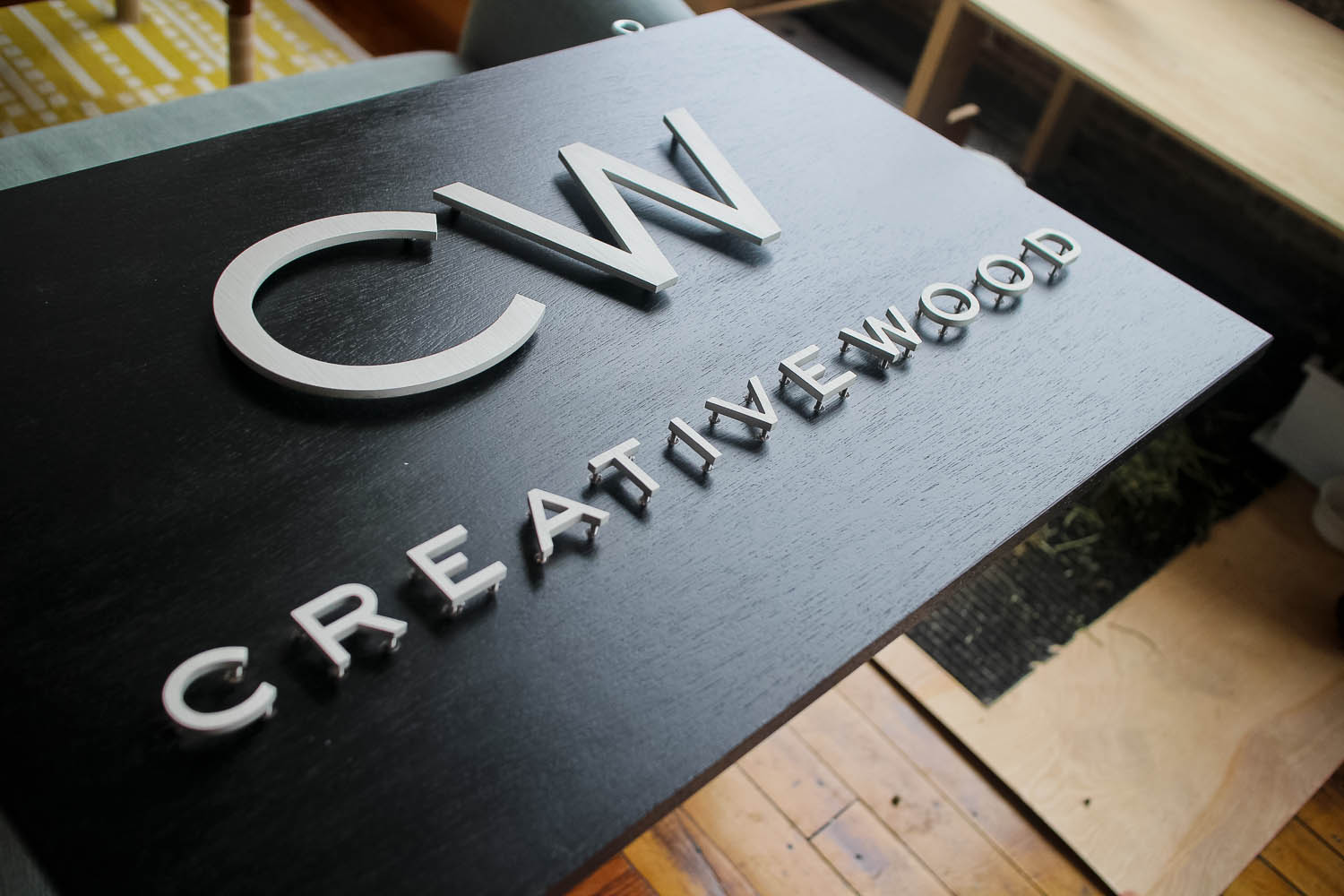 Creative Wood Metal And Wood Sign