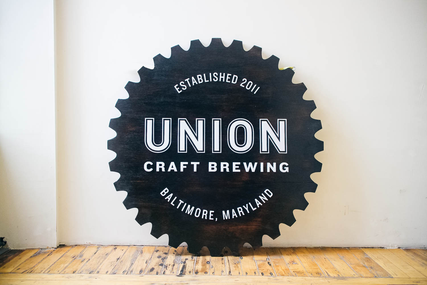 Union Craft Brewing Raised Torched Sign