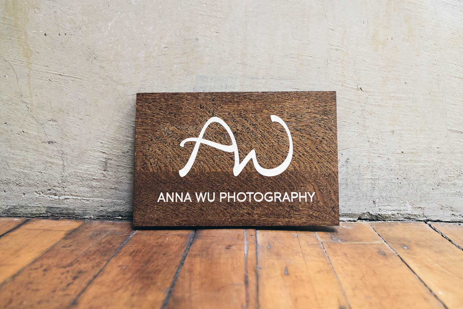 Anna Wu Photography Wood Sign
