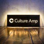 Culture Amp Illuminated Wood Sign