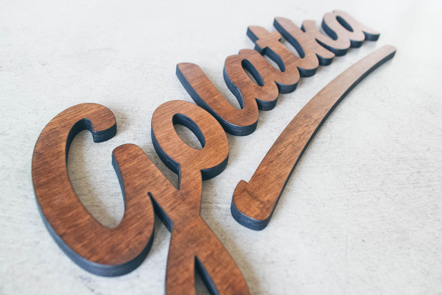 Golatka chestnut wood sign