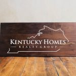 Kentucky Homes Wood Sign