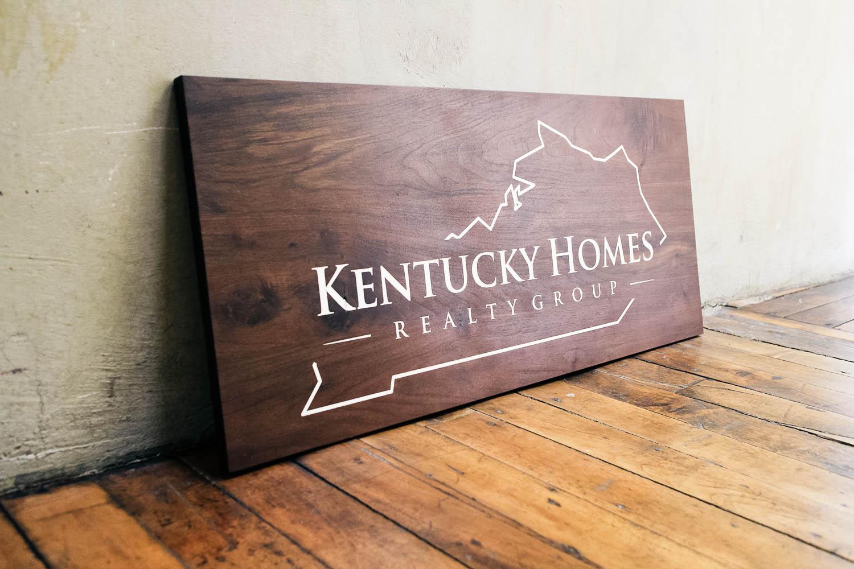 Kentucky Homes Wood Sign