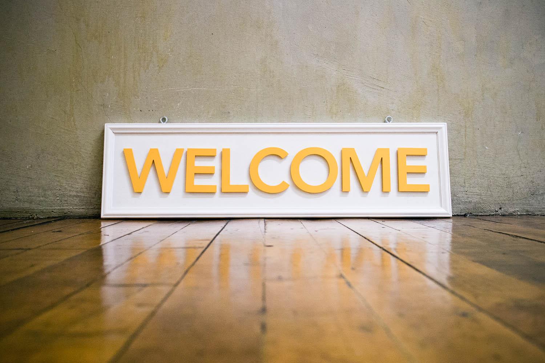 Philz Coffee Welcome Sign