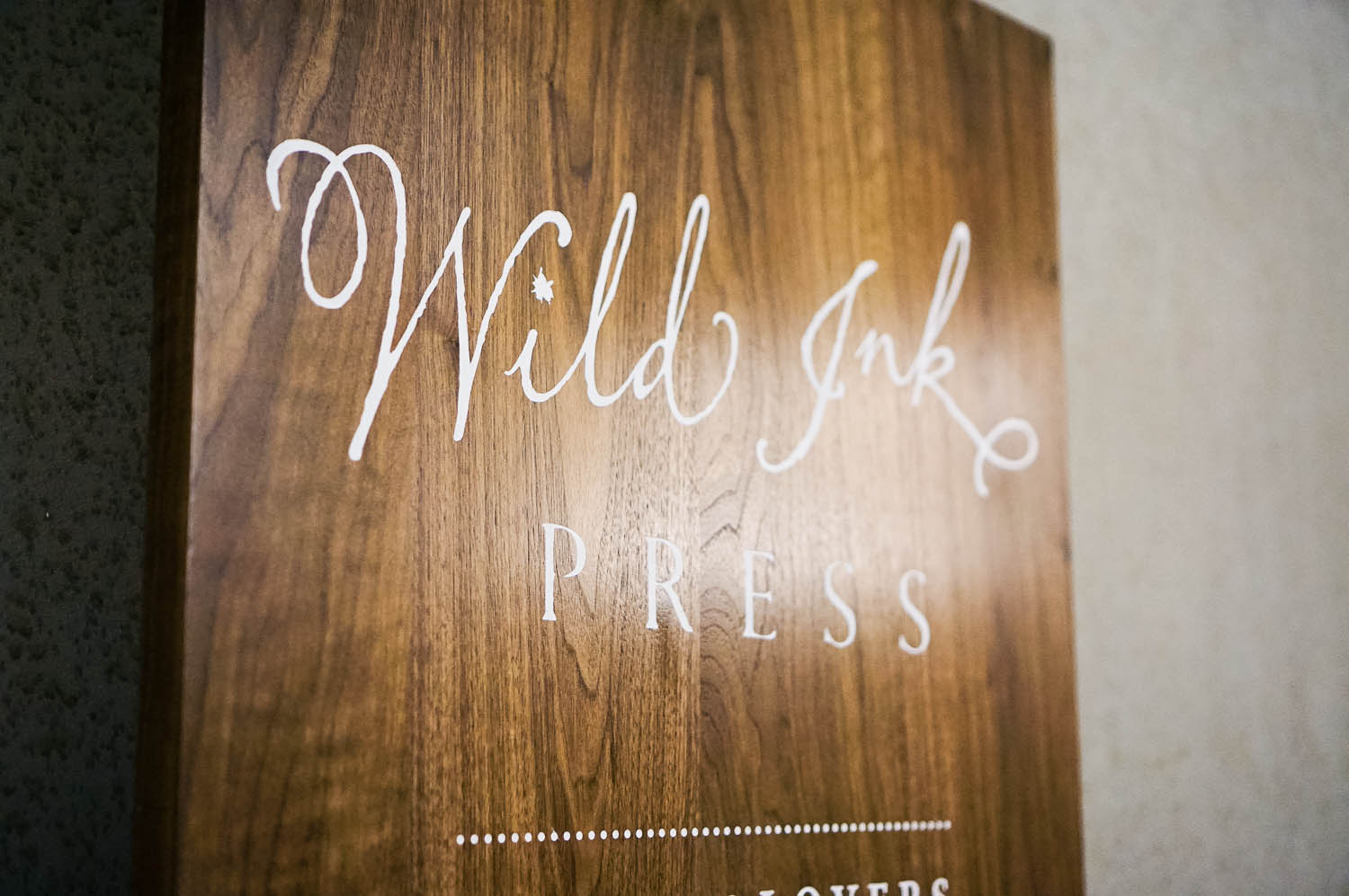 Wild Ink Press Wood Event Sign